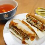 ダイエット食事メニュー 豆腐ハンバーグサンド