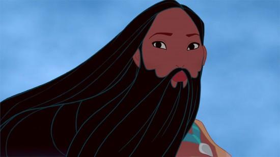 ポカホンタスの髭