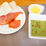ベーコンとほうれん草スープ